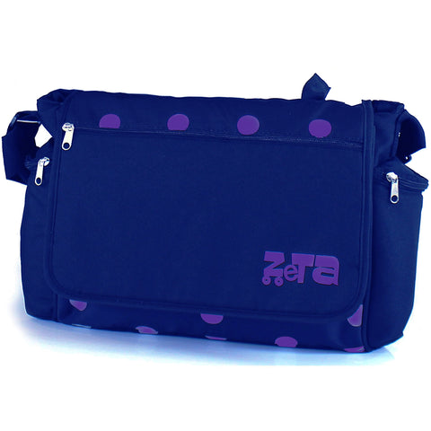 Baby Travel Zeta Changing Bag - Navy Dots