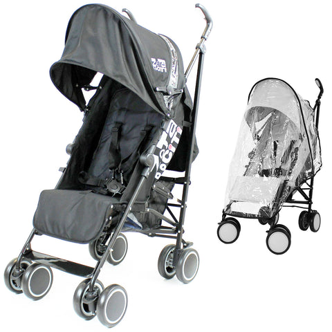 SALE!!!! Zeta CiTi Stroller - Black From Birth Complete With Rain Cover