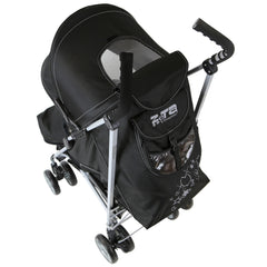 Baby Stroller Zeta Vooom Black Complete Moon & Stars H&S Black Complete - Baby Travel UK  - 6