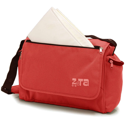 New Baby Travel Zeta Changing Bag - Plain Warm Red