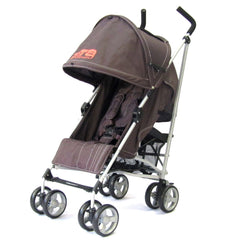 Zeta Vooom Stroller Hot Chocolate + Luxury Padded Liner Black - Baby Travel UK  - 3