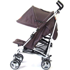 Zeta Vooom Stroller Hot Chocolate + Luxury Padded Liner Black - Baby Travel UK  - 6
