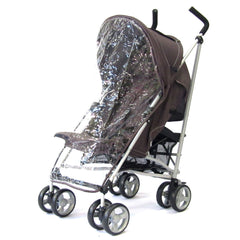 Zeta Vooom Stroller Hot Chocolate + Luxury Padded Liner Black - Baby Travel UK  - 4