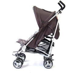 Zeta Vooom Stroller Hot Chocolate + Luxury Padded Liner Black - Baby Travel UK  - 5