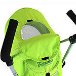 Zeta Vooom Lime Lemon Stroller Silver Frame POP of Hood Cross Harness Pram - Baby Travel UK  - 5