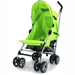 Zeta Vooom Lime Lemon Stroller Silver Frame POP of Hood Cross Harness Pram - Baby Travel UK  - 2