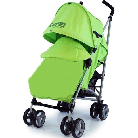 Baby Stroller Zeta Vooom Lime + Luxury Footmuff + Rain Cover