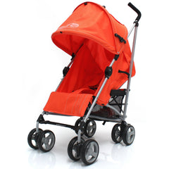 Zeta Vooom Stroller Orange Luxury Padded Liner - Baby Travel UK  - 2
