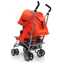 Zeta Vooom Stroller Orange Luxury Padded Liner - Baby Travel UK  - 6