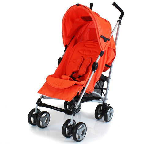 Zeta Vooom Stroller Orange Luxury Padded Liner