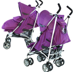 Baby Stroller Zeta Vooom Hearts And Stars Complete Plum - Baby Travel UK  - 2