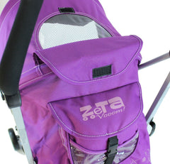 Baby Stroller Zeta Vooom Hearts And Stars Complete Plum - Baby Travel UK  - 6
