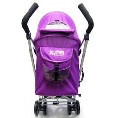 Baby Stroller Zeta Vooom Hearts And Stars Complete Plum - Baby Travel UK  - 5