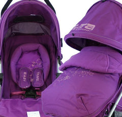 Baby Stroller Zeta Vooom Hearts And Stars Complete Plum - Baby Travel UK  - 7