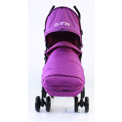 New Zeta Vooom Plum With Mc Large Padded Footmuff Liner Stroller Pushchair - Baby Travel UK  - 2