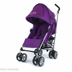 New Zeta Vooom Plum With Mc Large Padded Footmuff Liner Stroller Pushchair - Baby Travel UK  - 4