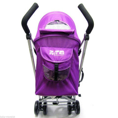 Zeta Vooom Plum (complete Plain) Padded Footmuff Liner Stroller Pushchair - Baby Travel UK  - 4
