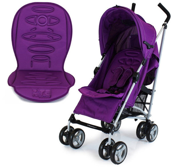 New Zeta Vooom Plum + Luxury Stroller Padded Liner - Baby Travel UK  - 1