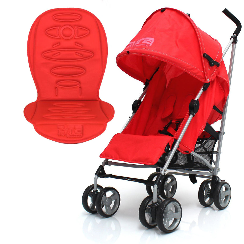 New Zeta Vooom Warm Red With Luxury Stroller Padded Liner - Baby Travel UK  - 1