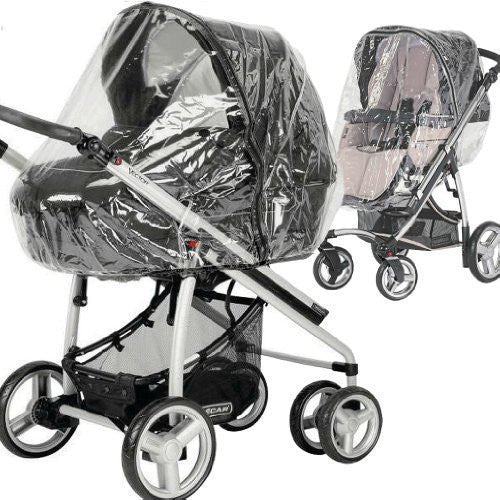 Universal Raincover Zipped To Fit Silvercross Freeway/ Combination Pushchair - Baby Travel UK  - 1