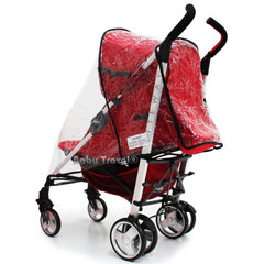 Raincover Throw Over To Fit Maclaren Quest Sport Buggy Zeta Vooom Tippitoes - Baby Travel UK  - 3