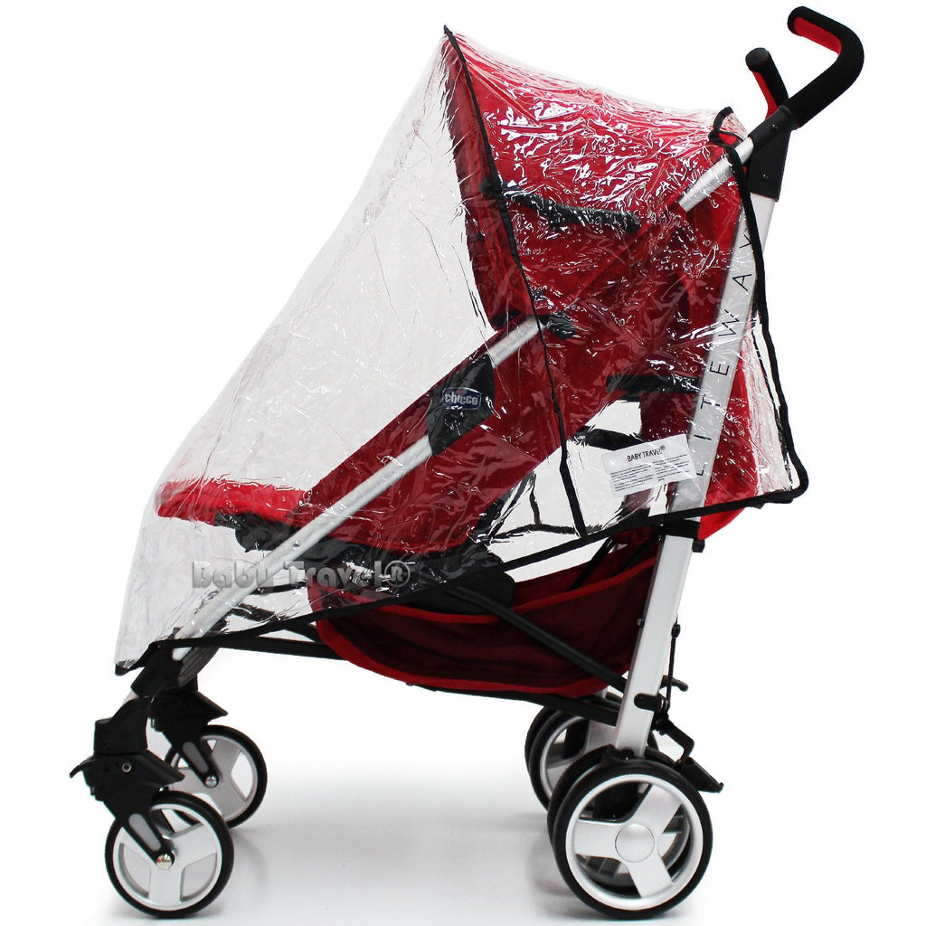 Raincover Throw Over For Britax B Lite Stroller Buggy Rain Cover - Baby Travel UK  - 1