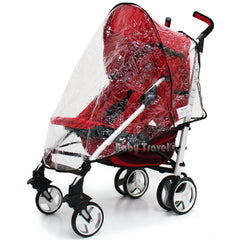 Rain Cover To Fit Perfect The Silver Cross Pop Stroller Sport - Baby Travel UK  - 3