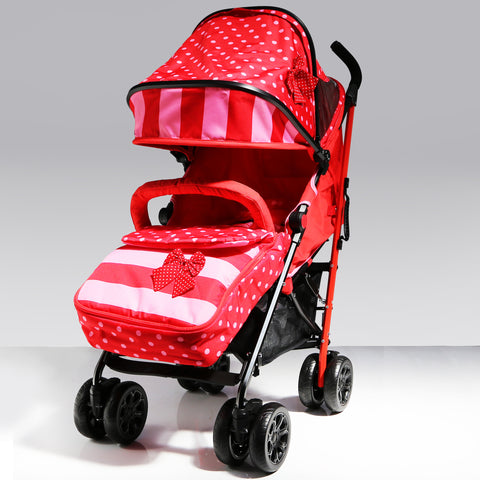 iSafe Optimum Baby Stroller Bow Dots