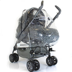 Universal Britax Visio Pramette Raincover Baby Wind Rain Pushchair Coverall - Baby Travel UK  - 4