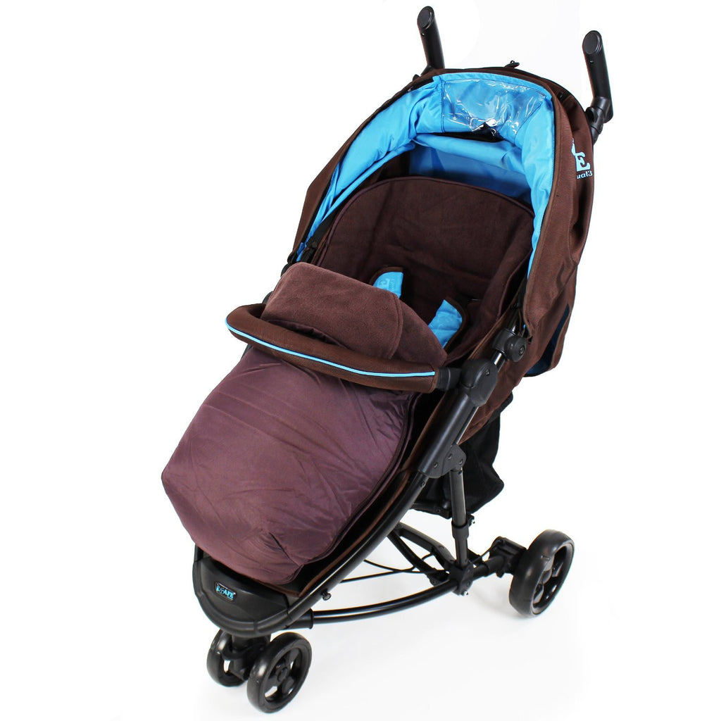 Deluxe 2 In 1 Footmuff - Zeta Lite Brown - Baby Travel UK  - 1