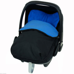 iSafe Buddy Jet Carseat Footmuff - Navy (Black / Blue) - Baby Travel UK  - 1