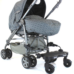 Black Childs Ride On Buggy Stroller Board To Fit Stroller Pushchairs & Prams - Baby Travel UK  - 1