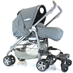 Black Childs Ride On Buggy Stroller Board To Fit Stroller Pushchairs & Prams - Baby Travel UK  - 2