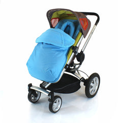 Luxury 2 in 1 Footmuff & Headhugger For Quinny Buzz - Ocean - Baby Travel UK  - 1