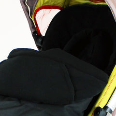 Luxury 2 in 1 Footmuff & Headhugger For Quinny Buzz - Black - Baby Travel UK  - 3