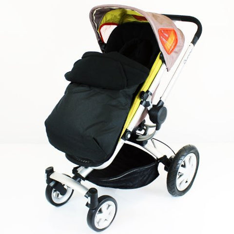 Luxury 2 in 1 Footmuff & Headhugger For Quinny Buzz - Black