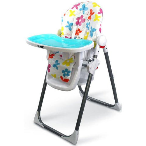 i-Safe Mama Highchair Le Fleurs Low Chair Recline