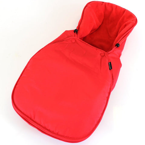Universal Carseat Footmuff Liner Fleeced - Warm Red
