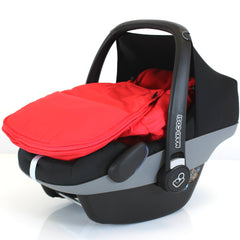 Universal Carseat Footmuff Liner Fleeced - Warm Red - Baby Travel UK  - 2