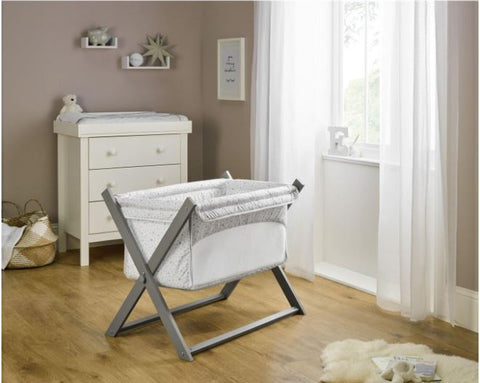 Clair de Lune Stars & Stripes Folding Breathable Crib