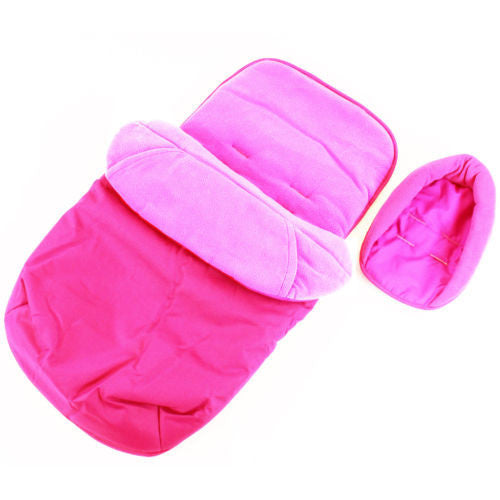 Deluxe Universal Footmuff & Headhugger - Pink - Baby Travel UK