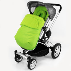 Footmuff Cosytoes & Head Hugger - Lime  Fits Silver Cross Pop - Baby Travel UK  - 2