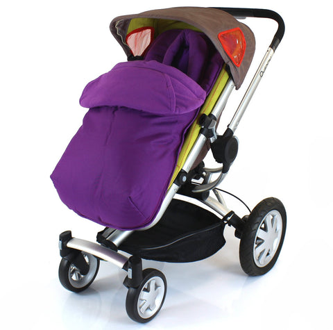 Luxury 2 in 1 Footmuff & Headhugger For Quinny Buzz - Plum