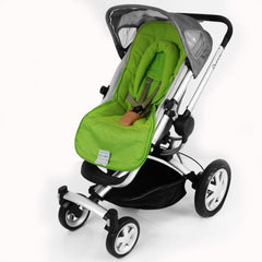 Luxury 2 in 1 Footmuff & Headhugger For Quinny Buzz - Lime - Baby Travel UK  - 2