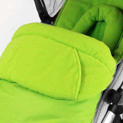 Luxury 2 in 1 Footmuff & Headhugger For Quinny Buzz - Lime - Baby Travel UK  - 3