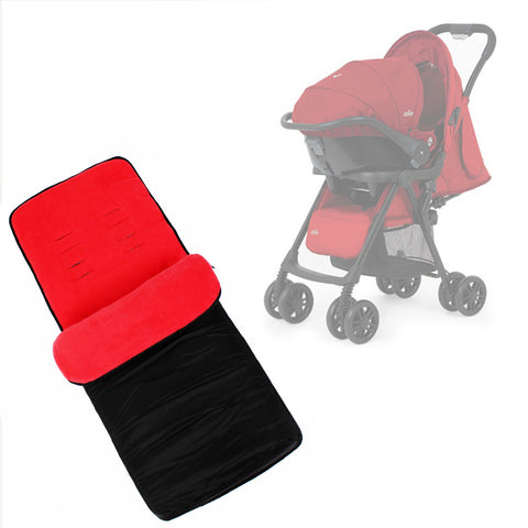 Buddy Jet Foot Muff Red Suitable For Joie Aire Travel System (Poppy Red)