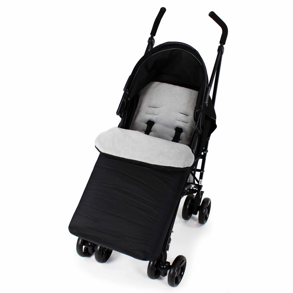 Buddy Jet Foot Muff Grey Suitable For Joie Mirus Travel System (Black Ink)
