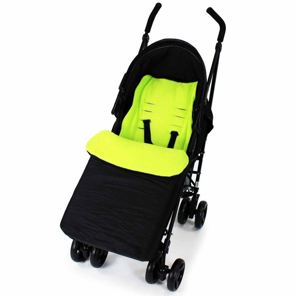 Buddy Jet Foot Muff Lime Suitable For OBaby Atlas Lite Travel System (Lime Stripes)