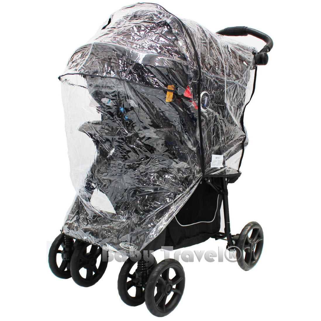 Baby Travel Universal Rain 3 Wheeler Rain Cover to Fit Hauck Rapid 3 Stroller