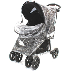 Rain Cover To Fit Safety 1st Stroller Travel System Rain Cover - Baby Travel UK  - 5